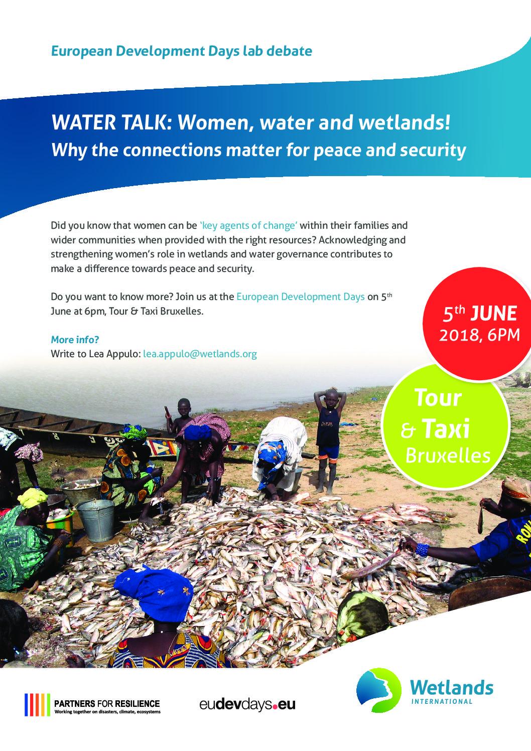 WATER TALK: Women, water and wetlands! - Wetlands